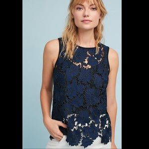 Anthropology Postmark Koria Lace Shell Top